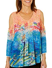 Womens Holy Mackerel Cold Shoulder Top