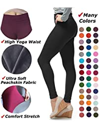Women's Extra Soft Leggings with High Yoga Waist Pants...