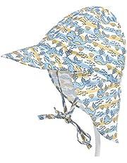 JIACUO Summer Toddler Kids Baby Protección UV Swim Beach Hat Cute Cartoon Whale Floral Print Ajustable Sun Cap Exterior con Solapa de Cuello