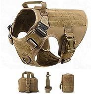Peitoral tático militar para cães de estimação Pastor Alemão Coleira peitoral para cães grandes K9 Roupas para