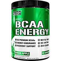 Evlution Nutrition BCAA Energy - High Performance, Energizing Amino AcidSupplement for Muscle Building, Recovery, and Endurance, 30 Servings