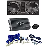 Rockford Fosgate P1-2X12 12 1000W Dual Subwoofer + Box + 3000W Amp + Amp Kit