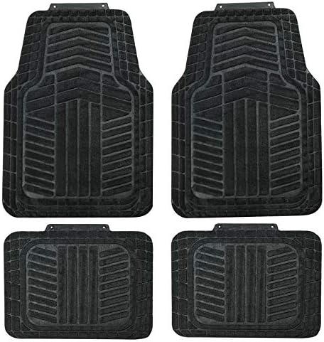 August Auto Universal Fit Set of 4pcs Carpet Car Floor Mats Fit for Sedan, SUVs, Truck, Vans