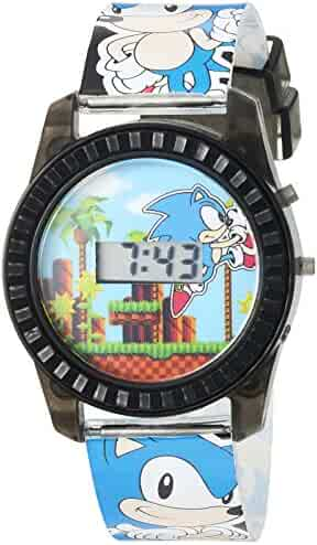 Sonic the Hedgehog Kids' SNC4008 Digital Display Quartz Blue Watch