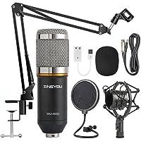 ZINGYOU Condenser Microphone Bundle, BM-800 Mic Kit with...