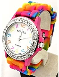 Rainbow Silicone Watch Fine Selected Quality USA Seller