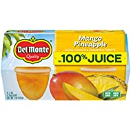 Del Monte Mango Pineapple Fruit Snack Cups in 100% Juice, 4.4-Ounce (Pack of 24)