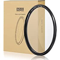 ESDDI 77mm CPL Filter Circular Polarizer Filter with Multi-Resistant Coating and SCHOTT B270 Glass