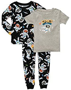 Carter's Baby Boys' 3 Piece Cotton Pajama Sets- Space Explorer- 12 Months-4T