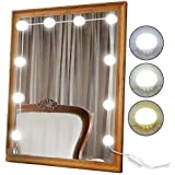 Best Buy 2018 Newest Vanity Mirror Lights Kit Hollywood Style 10 Dimmable Led Light Bulbs Warm White To Daylight Tunable Linkable Lighting For Makeup Vanity Table Set Dressing Room Mirror Not Included