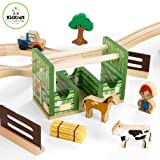 KidKraft Wooden Rural Farm Train Set with