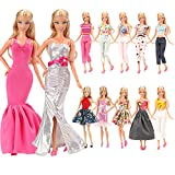 Barwa 5 Sets Fashion Casual Wear Clothes/outfit for Barbie Doll Xmas Gift