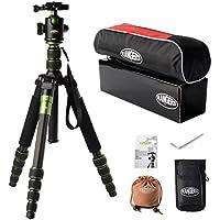 Rangers Professional Carbon Fiber Tripod & Mono-pod + Ball Head for DSLR (Canon, Nikon, Pentax, Sony, Leica, Fuji, Lumix, Olympus) Q666-C