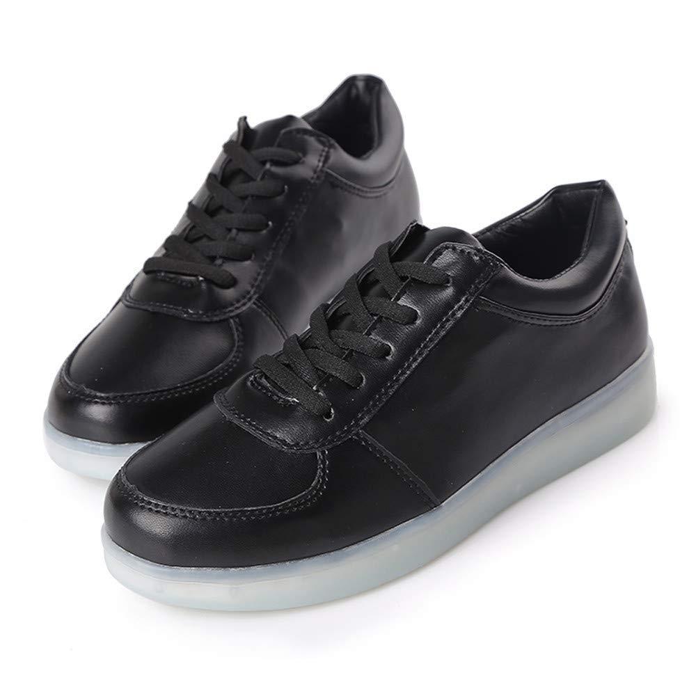 ZHRUI Stiefel Damen Schuhe Frauen Paar Modelle Schuhe Light Light Light Casual Sole Glühende Schuhe Lace-Up Damen Turnschuhe (Farbe   Schwarz Größe   39 EU) 6b8e46