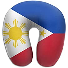 ULTRAS Flag Of Philippines U-shaped Memory Foam Neck Pillow Soft Travel Pillow Airplane Car Office Pillow For Adult And Kids