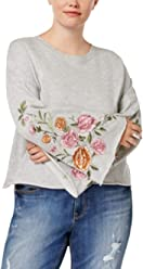 046caec491 Planet Gold Trendy Plus Size Embroidered Sweater