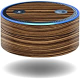 MightySkins Skin for Amazon Echo Dot - Dark Zebra Wood | Protective, Durable, and Unique Vinyl Decal wrap Cover | Easy to Apply, Remove, and Change Styles | Made in The USA