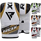 RDX Boxing Gloves Maya Hide Leather Heavy Punch Speed Bag Gloves MMA Punching Mitts Kickboxing Sparring Muay Thai Martial Arts