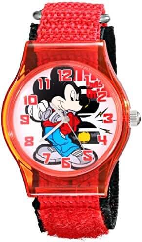 Disney Kids' W001689 Mickey Mouse Analog Red Watch