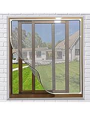 NeatiEase Raamhor,met eenvoudig te monteren PVC magneetframe, max 130 x 150 cm, magnetisch frame voor vliegengaas, ramen, wasbaar, wit, geen stansen nodig, vlamvertragend & waterdicht