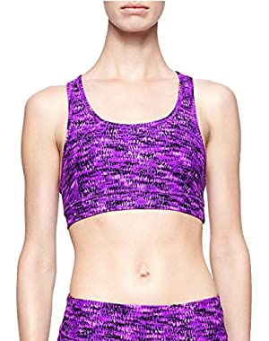 Calvin Klein Performance Women's Abstract Stitch Print Sports Bra