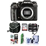 Pentax K-1 Mark II DSLR Camera (Body Only) - Bundle 32GB SDHC Card, Camera Case, Cleaning Kit, Memory Wallet, Card Reader, PC Software Package