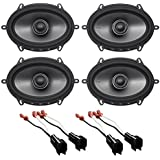 Polk 6x8 Front+Rear Speaker Replacement For 2001-2005 Ford Explorer Sport Trac