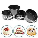 4 Inch Mini Springform Cheesecake Pan Set - 4
