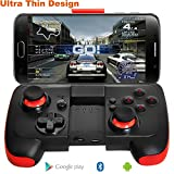 Android Controller Ultra Thin Bluetooth Gamepad with Bracket for Android Phone/Tablet/TV Box/VR Devices/Emulator - Black Red