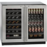 U-Line U3036BVWCS13B Modular 3000 36 115 Volts Freestanding or Built In Beverage Center with 7.0 cu. ft. Capacity, in Stainless Steel