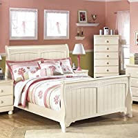 Ashley Cottage Retreat Wood Full Sleigh Bed in Cream