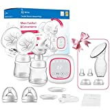 Double Electric Breast Pump Portable - Opoway Dual breast Pump with Touch Screen - Adjustable Mode & Pumping Suction Levels for Mom's Breastfeeding (Pink)