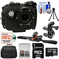 Intova X2 Marine Grade Wi-Fi HD Video Action Camera Camcorder with Video Light + 32GB Card + Bike Handle Bar & Vented Helmet Mounts + Case + Kit
