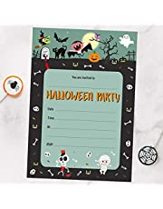 Dotty about Paper Spooky Fun - Halloween Party Invitation Sheets & Envelopes - Pack of 20