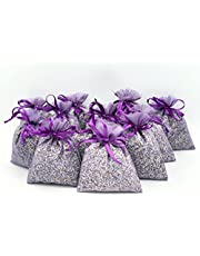 12 Full Lavender Sachets Craft Bag with Dried French Lavender Flower Buds - Lavender Sachets for Wedding Toss, Home Fragrance Sachets for Drawers and Dressers (Purple) 12 Sachets of Lavender Harvest French Lavender. Lavender Import From France