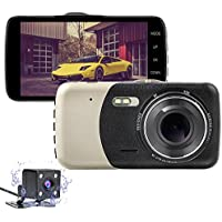 Nesolo Full HD 1080P Car Dash Cam 170° Wide Angle 4 IPS Screen Dashboard Camera DVR Video Recorder Dual Lens Front+Rear with HDR Night Vision,Loop Recording,Parking Mode,G-Sensor