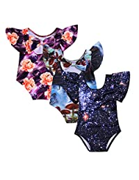 Camidy 1-4T Toddler Baby Girl 3D Print Bathing Suit One-Piece Swimsuit Swimwear