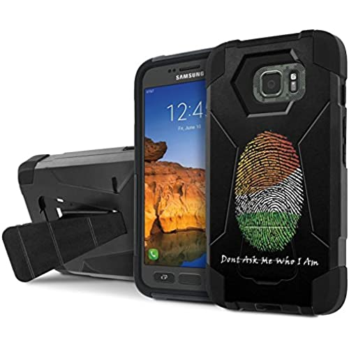 AT&T [Galaxy S7 Active] Armor Case [NakedShield] [Black/Black] Tough ShockProof [Kickstand] Phone Case - [Don't Sales