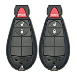 Keyless2Go New Uncut Keyless Remote Fobik Key Fob Replacement for Vehicles That Use M3N5WY783X (2 Pack)