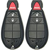 Keyless2Go Keyless Remote Fobik Key Fob Replacement for Vehicles That Use 3 Button M3N5WY783X (2 Pack)