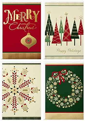Image Arts Boxed Christmas Cards Assortment, Elegant Icons (4 Designs, 24 Cards with Envelopes)