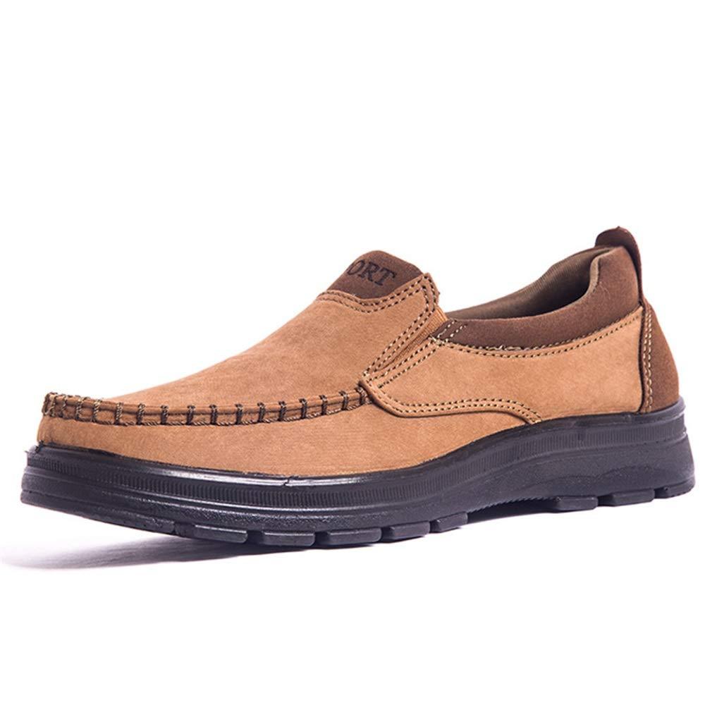 Fuxitoggo Große alte dauerhafte Peking-Tuch-Schuhe für Männer Rutschfeste dauerhafte alte weiche alleinige Schuhe (Farbe : Gelb, Größe : EU 45) Gelb 79092a