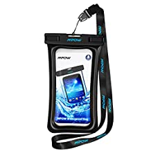 Mpow Floatable Waterproof Case, Dry Bag Cellphone Pouch for iPhone 7/ 7 Plus, Google Pixel, LG G6, Huawei P9/ P9 Plus, Galaxy S8 and More
