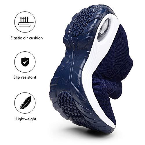 STQ Women Running Shoes Casual Sports Non Slip Walking Sneakers Navy, 5.5