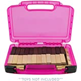 Life Made Better Game Carrying Case, Compatible with Jenga Game (Pink)
