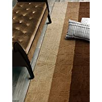 Custom Size Hallway Runner Rug, Slip Resistant, 26 Inch Wide X Your Choice of Length, Squares Brown, 26 Inch X 7 feet