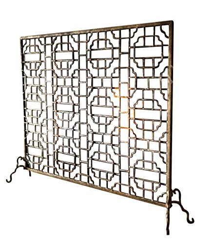 Buy Geometric Single Panel Flat Fireplace Screen: Fireplace Screens - Amazon.com ? FREE DELIVERY possible on eligible purchases