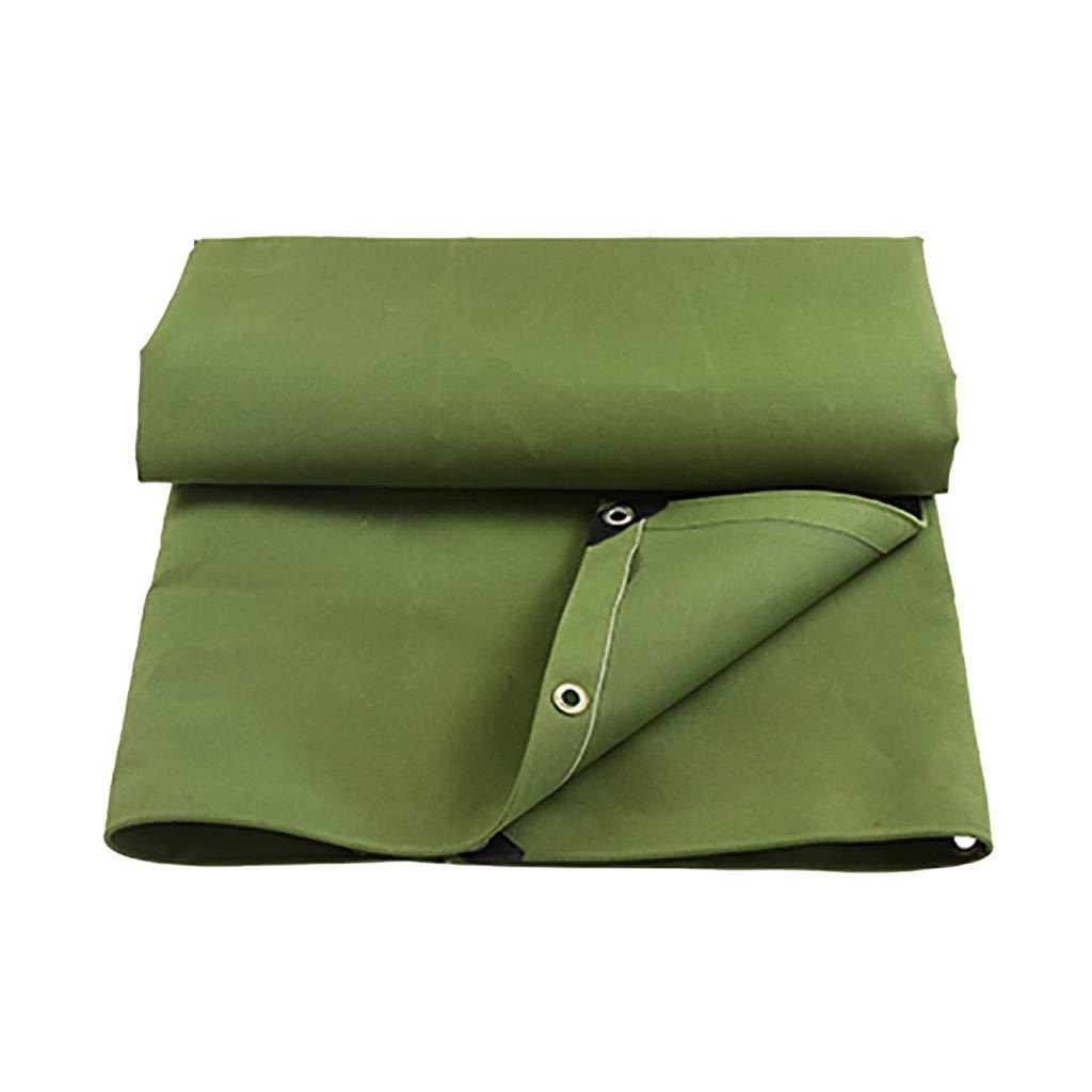 Nwn Telo Impermeabile verde per Campeggio, Pesca, Copertura per Auto da Giardino in Poliestere Resistente 450 g m² (Dimensioni   2m4m)