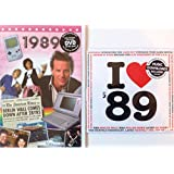 1989 BIRTHDAY or ANNIVERSARY GIFT - 1989 DVD - Best 56 Minutes of News Footage & 1989 Music Compilation CD with 20 Original Hit Songs and Two Year Greetings Cards