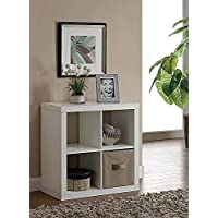 Versatile Better Homes and Gardens Square 4-Cube Organizer, Multiple Colors (White)